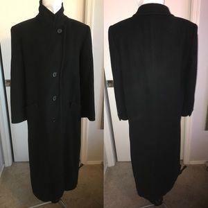 Lord & Taylor Vintage Black Felt Trench Coat 10 M